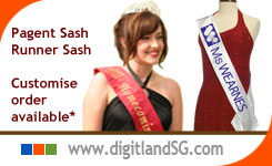 P301: Pageant Sashes | Supply by DigitLand