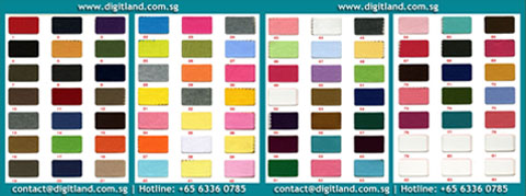 DigitLand Ready Stock - Fabric Color Swatch